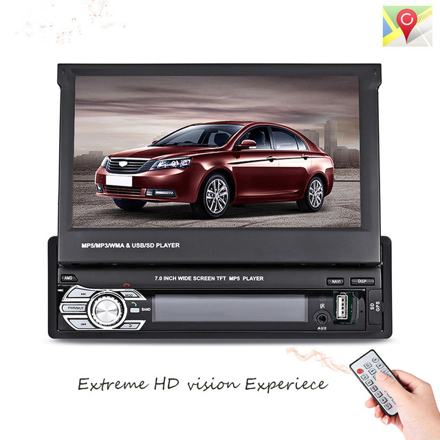 9601g 1 Din Car Video Mp5 Player Retractable 7 Hd Touch Screen
