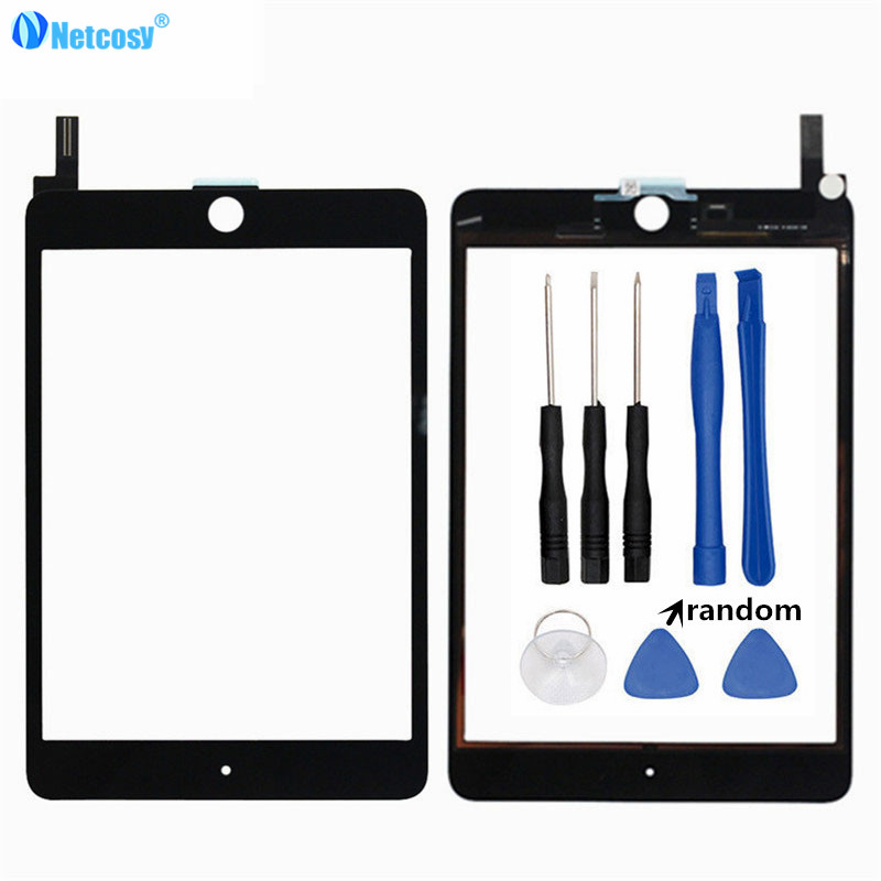 Netcosy For ipad mini4 Tablet Touch panel For ipad mini 4 A1538 A1550 Touch screen digitizer without home button & Tools