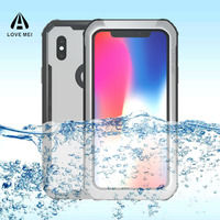 Aluminum Waterproof Phone Case For IPhone X IP68 10M Underwater Waterproof Case For IPhone X 5
