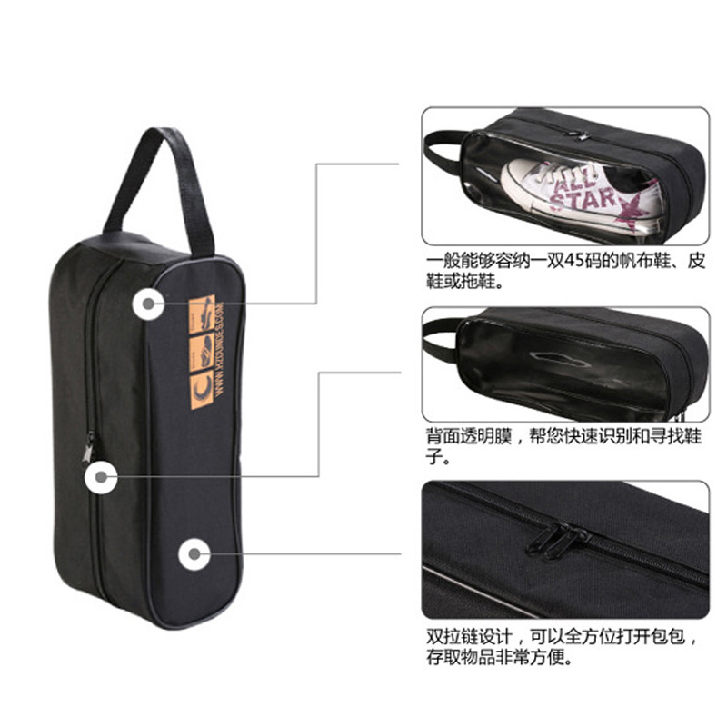 Women Shoe Bag Organizer Waterproof Shoe Storage Bags Black Golf Men Hanging Shoe Bag Space Saver Transparent Shoe Case