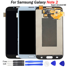 цена на For Samsung GALAXY Note 2 LCD Display N7100 N7105 T889 i317 LCD Touch Screen Digitizer For Galaxy Note 2 N7100 Display LCD