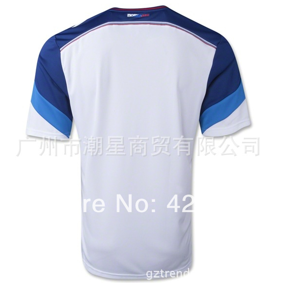 more photos 2316f 89453 US $14.98 |Free ship Best thai quality RUSSIA 2014 world cup white visiting  field RUSSIA soccer jersey shirt-in Soccer Jerseys from Sports & ...