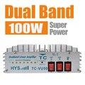 2017 HYS Dual Band power amplifier VHF UHF 140-150MHz&470-480MHz Portable Ham Handheld Two Way Radio Walkie Talkie 50W TC-VU50