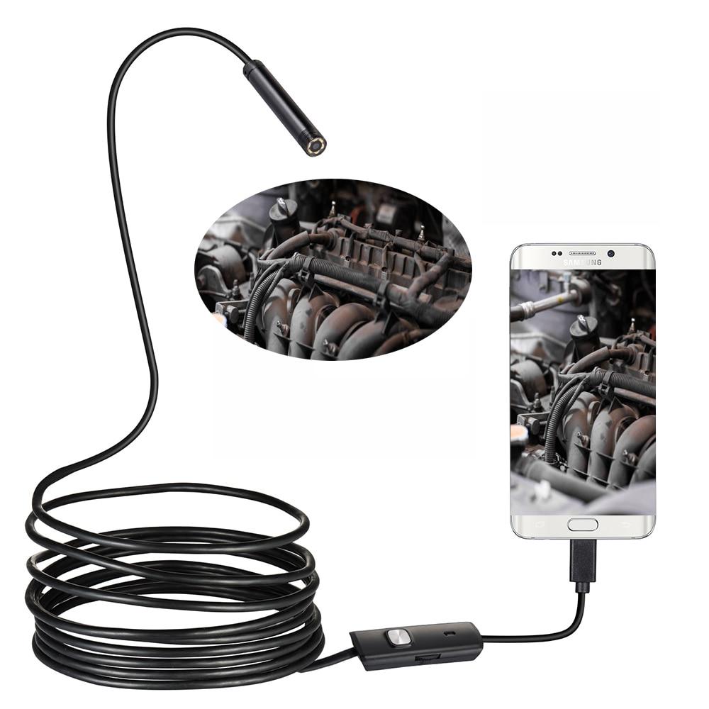 8/7/5.5mm Lentille 1 m 2 m 3.5 m 5 m 720 p Android USB Endoscope caméra Flexible Serpent USB Tuyau D'inspection Android Téléphone Endoscope Caméra