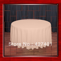 Hot Sale 132 R Peach Round Table Cloth Polyester Plain Table Cover for Wedding Events &Party Decoration(Supplier)