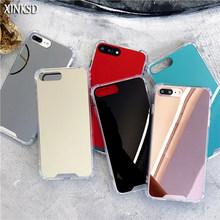 Mirror Case for iPhone X(10) 6 6S 7 / 8 / 7 plus / 6 plus Anti Shock Soft TPU Cover Back Rose Gold Coque Girly Gift for iPhone X(China)