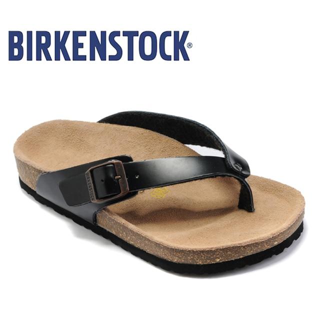 8fe3d060e138 2019 Original Birkenstock Flip Flops on Beach slides Sandals summer fashion  Shoes Unisex Women Shoes 808 Women Beach Slippers