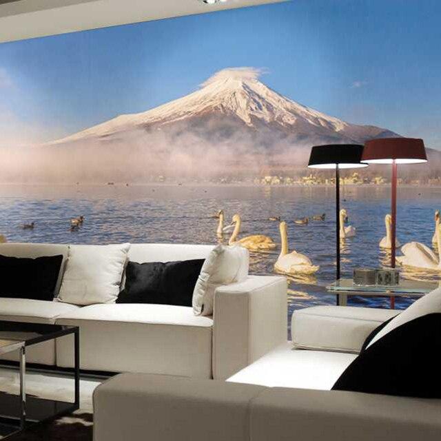 Wohnzimmer bilder fr hintergrund  Der schwan schwimmt im see wohnzimmer hintergrund 3D Wallpaper ...