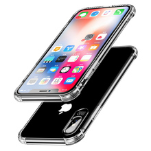 For iPhone 6 7 8 Plus 5S 5 SE Phone Case Clear Crystal TPU Shockproof Soft Silicone Transparent Cover For iPhone XS Max X XR 6S цена и фото