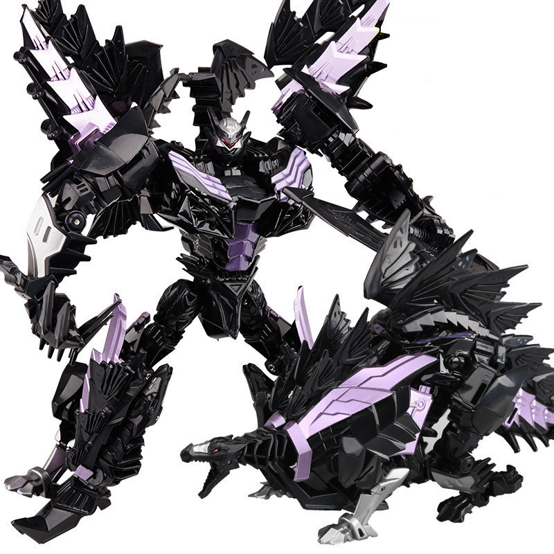 Toys & Hobbies Rapture Wei Jiang Oversize 25cm Transformation Robots Toy Boy Plastic Alloy Cool Anime Action Figures Dark Black Dinosaur Model Kids Toy 100% Original