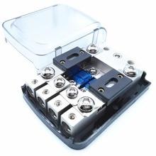 Carcasa esmerilada niquelada, 12V, 48V, fusible AFS, soporte Mini ANL, portafusibles con fusibles para Audio de coche