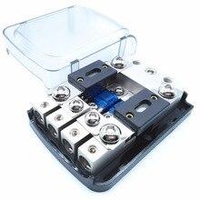 Glassato Borsette Nichelato 12V 48V AFS Fuse Holder Mini ANL Fuse Holder con Fusibili per Auto Audio