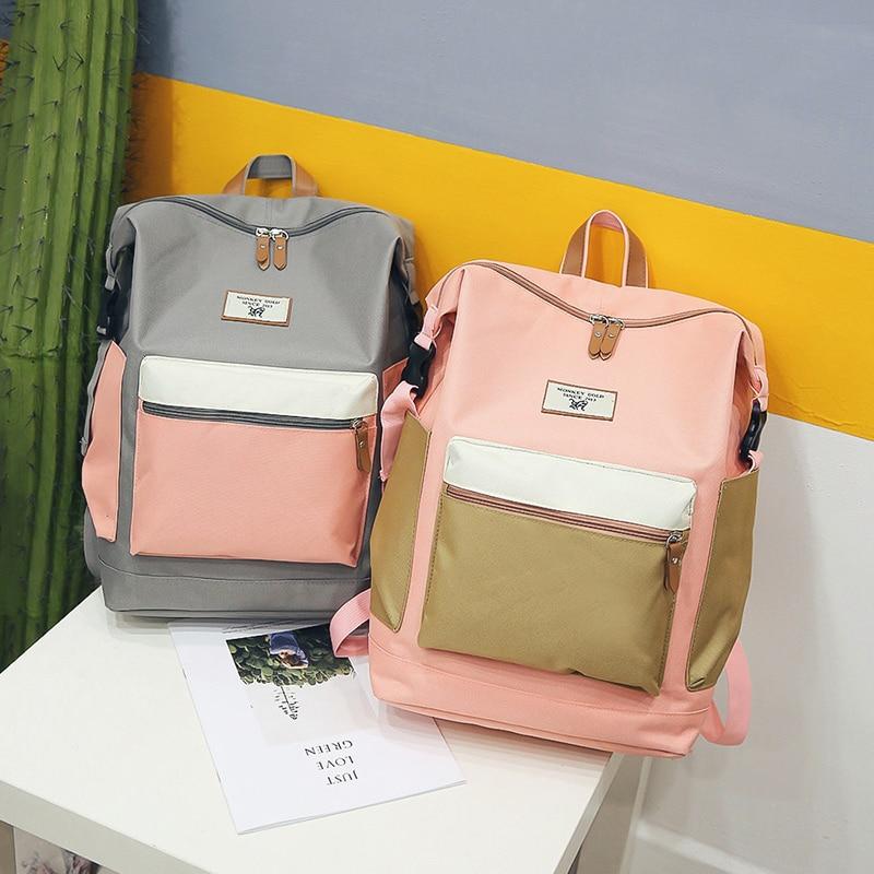 Fashion Backpack New Women Backpack Female Shoulder Bag Teenager Girl Mochila Backpack Female Bagpack Pack Design 2019