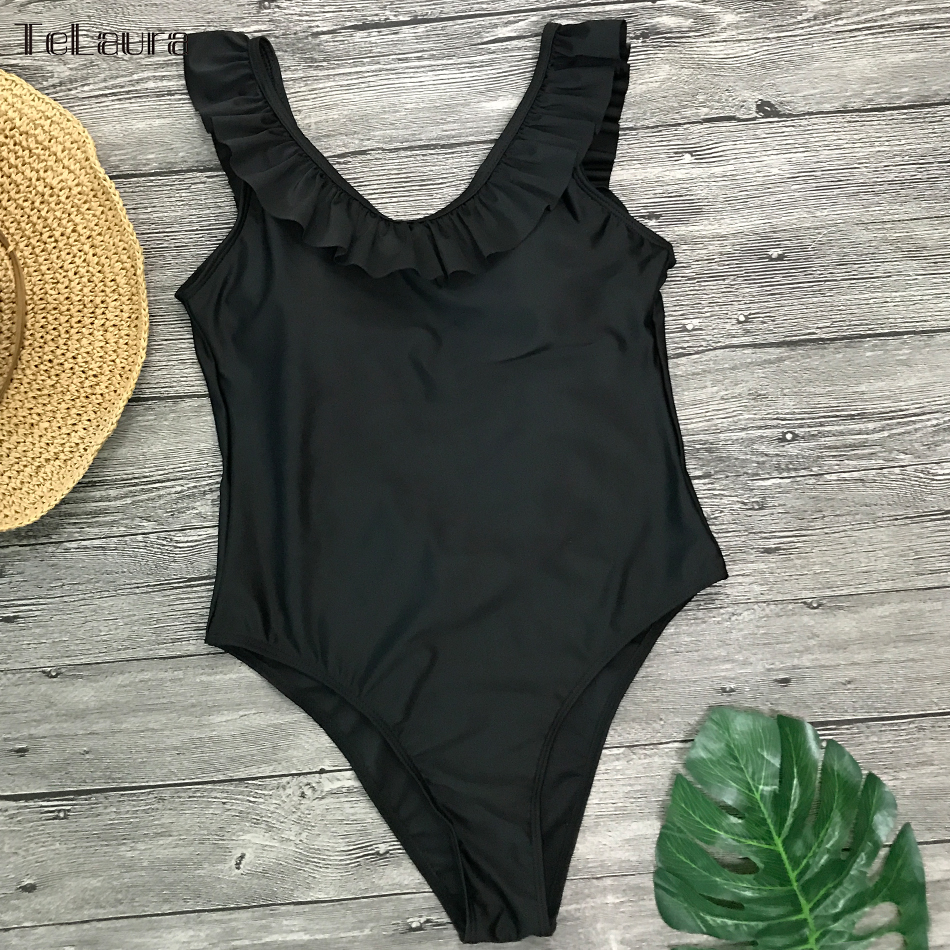 2019 Sexy One Piece Swimsuit Hollow Out Swimwear Women Monokini Print Bodysuit Bandage Brazilian Vintage Bathing Suit Beach Wear