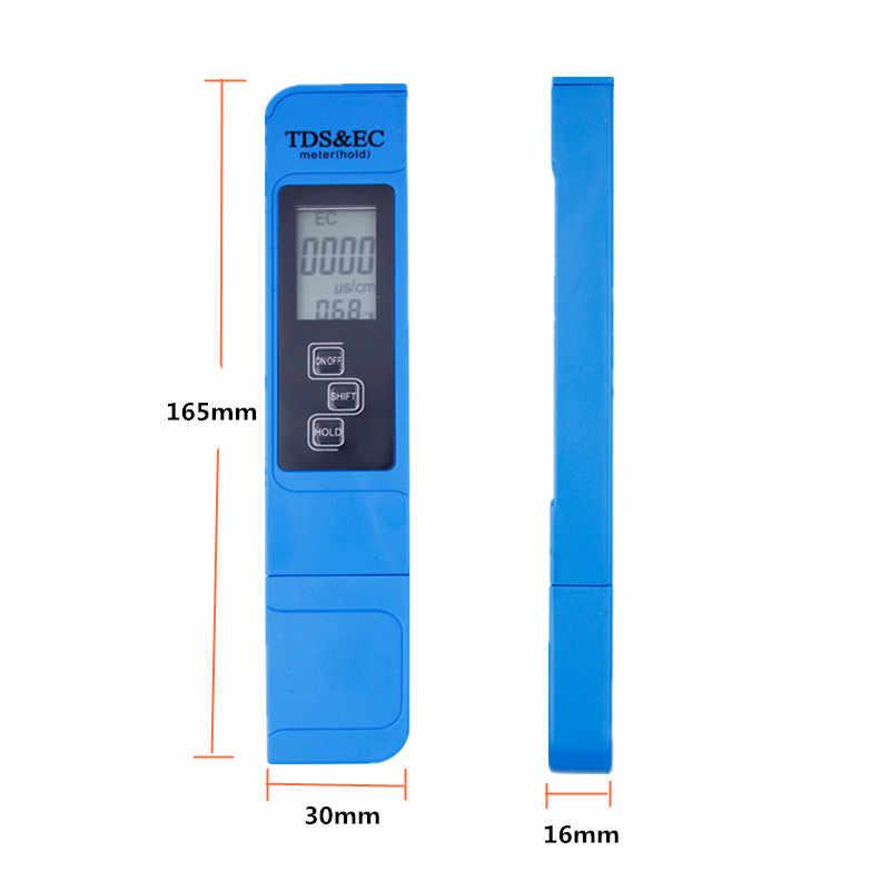 2 Pcs 0.0-14.0 Digital PH Meter Tester 0-9990ppm Digital Tds Ec LCD Air Kemurnian Ppm Filter Akuarium 28% off