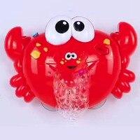 Новый дует машина с пузырями 2 игрушечные лошадки для детей мыло пузырь детские для ванной игрушки открытый большой краб устройство для мыл...