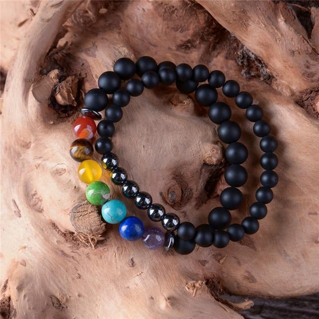 2pcs/set 7 Chakra Bracelet  2