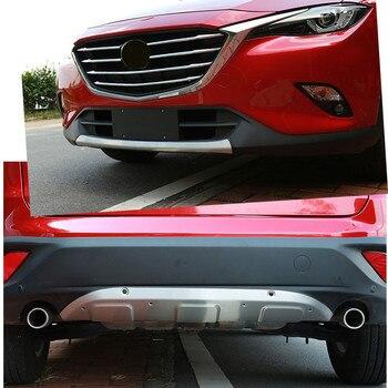 Автомобильный Стайлинг Нержавеющаясталь Передний + задний бампер чехол накладка анти-скольжения спойлер верхний для Mazda CX-5 CX5 2013 2014 2015 2016