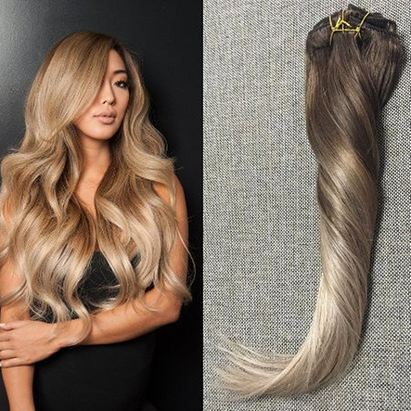 Full shine remy clip in hair extensions human hair ombre balayage full shine remy clip in hair extensions human hair ombre balayage virgin hair clip extensions color 4 18 ash blonde in stock on aliexpress alibaba pmusecretfo Image collections
