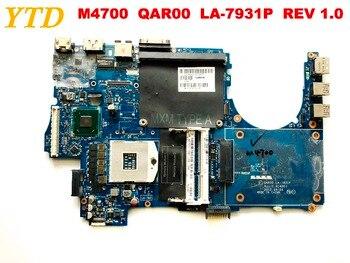 Original for DELL  M4700  laptop motherboard M4700  QAR00  LA-7931P  REV 1.0   tested good free shipping