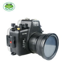 For Nikon D750 105mm Camera Underwater Housing Scuba Diving Photograph Water Impermeable Case 60m Depth Rating Protective Cover