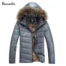 Free shipping 2016 new winter Jacket for men hooded coats casual mens thick coat male slim padded down outerwear Size M-2XL