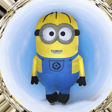 Inflatable Minion Costume Halloween Purim for Adults Inflatable Despicable Minion boy and girl Christmas Minion Mascot despicable me minion slipper little kid big kid