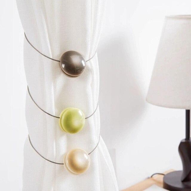 Simple Resin Round Shape curtain tieback magnetic curtain Holder holdbacks hooks window shower decoration hardware accessories