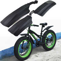Snow Bicycle mudguard 20 inch 26inch Fat bike Fender 2pcs Front Rear Mud Guard for Fatbike MTB Bikes Cycling Bicycle Fenders