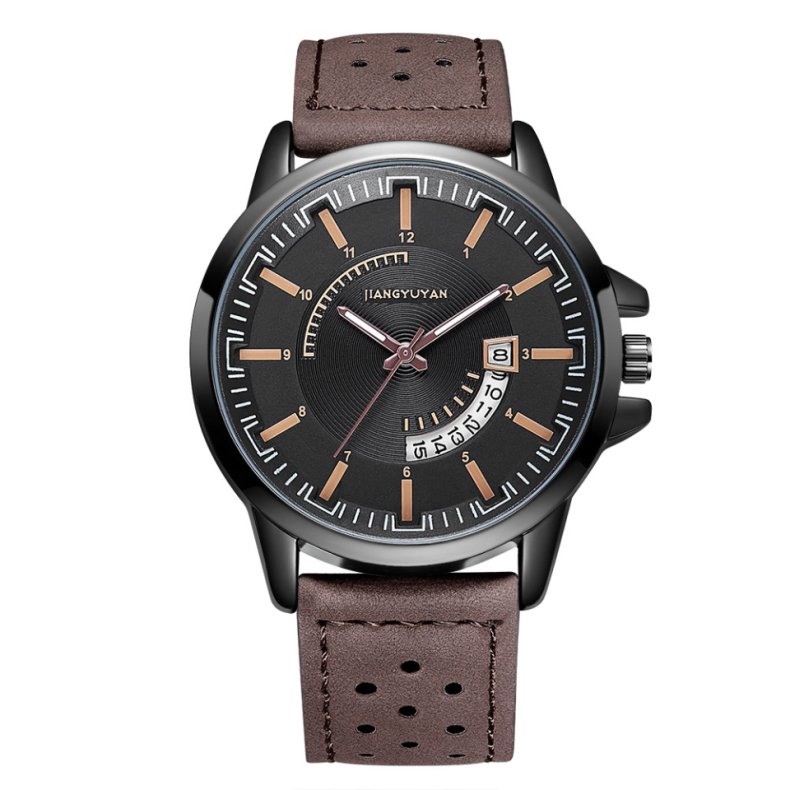 2019 new mens luxury brand casual fashion simple mens watch Leather sports waterproof automatic date quartz watch2019 new mens luxury brand casual fashion simple mens watch Leather sports waterproof automatic date quartz watch