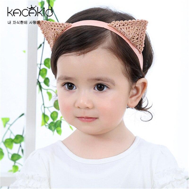 Brand kacakid baby girl Crochet knitting Cat ear hair bands for girls newborn headband hairband for babies hair accessories
