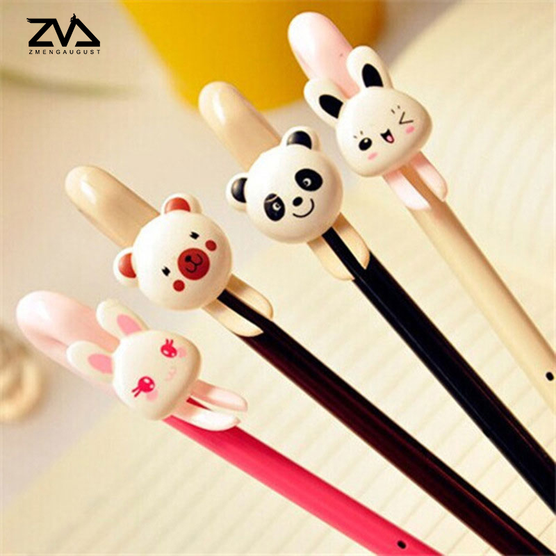2pcs/lot Cute cartoon bear neutral pen Kawaii stationery pens students office escolar canetas materials Reward for the children велосипед rock machine surge 50 2013