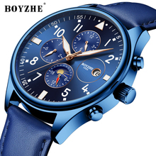 BOYZHE Fashion Business Watch Men Casual Leather Moon Phase Calendar Watch Men Luxury Waterproof Mechanical Watches Self Wind все цены