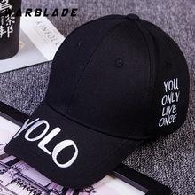 39ea54d1da38b WARBLADE Hot Selling YOLO Letter Embroidery Baseball Cap Couples Hip Hop Snapback  Cap for Man Hat