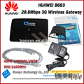 Wholesale Original Unlock HSPA+ 28.8Mbps Huawei B683 3G Wireless Gateway With RJ45 Port And 3G Wireless Router