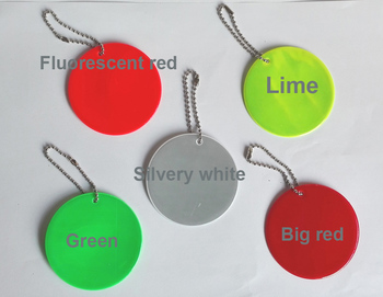 Round reflector reflective pendant for visible safety use dangled on bag mobile phone clothing free shipping.jpg 350x350