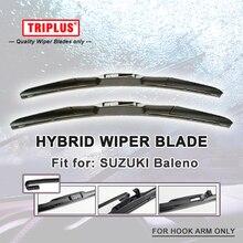 Гибридная Щетка стеклоочистителя 1 комплект для SUZUKI Baleno, u-образный крюк переднего стеклоочистителя J крюк стеклоочистители для лобового стекла хэтчбек/седан/вагон