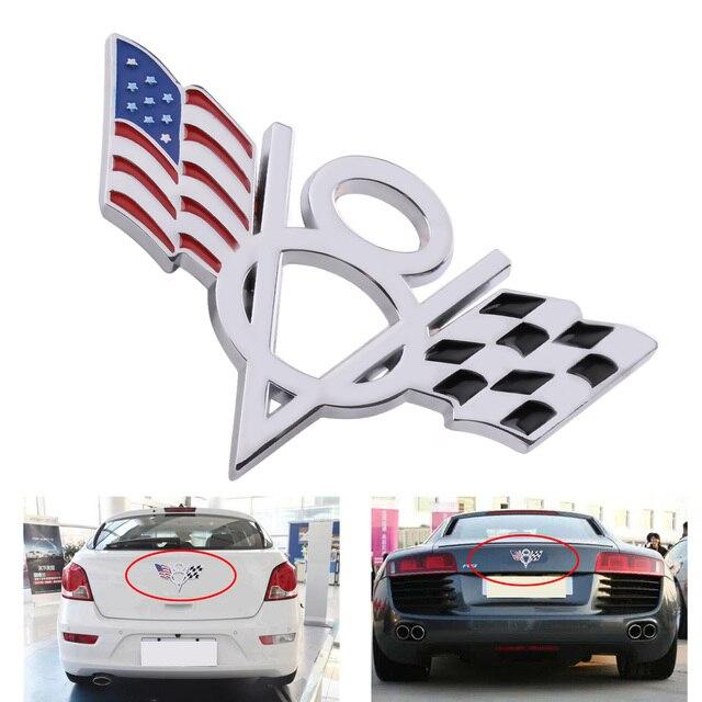Checkered Flag Vw >> Citall Car 3d Metal V8 American Checkered Flag Styling Emblem