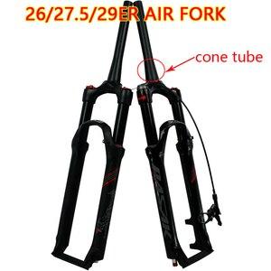 bicycle Fork 26 27.5 29 er Disc Brake Remote Shoulder control Mountain MTB bike fork air damping centrum 39.8 1-1/2 HL/RL