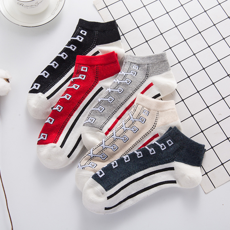 New Spring Summer Women's Socks Cotton Creative Shoes Pattern Cute Funny Short Socks Female Casual Sock Ladies Sox Meias 2019