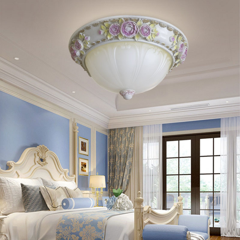 110V-220V E27 Rose ceiling light lamp Modern Restaurant Bathroom Aisle Stairs Balcony European-style glass cover Ceiling lamp european retro nostalgia classical ceiling lamp living room restaurant aisle stairs balcony ceiling lamp free shipping