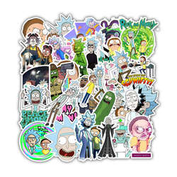 35Pcs Rick and Morty Cartoon Stickers Waterproof For Laptop Luggage Skateboard Motorcycle Decal Toy Stickers