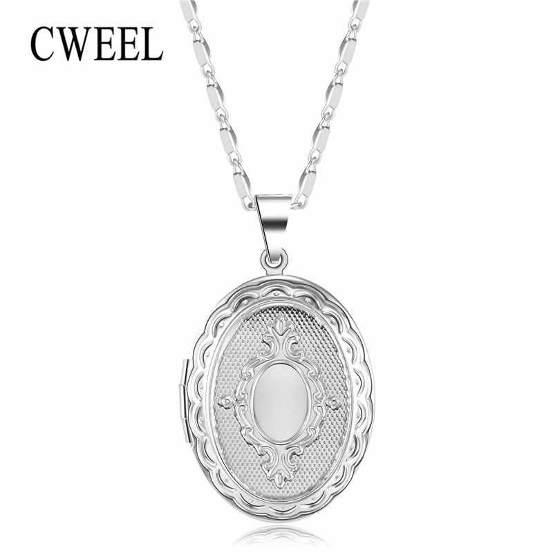 CWEEL כסף צבע גדול שרשרת לנשים גיאומטרי בציר אפריקאי תכשיטי מפלגה מתנות הצהרת תליון שרשראות