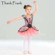 Новинка; кружевное балетное платье принцессы с юбкой-пачкой для девочек; очаровательный балетный костюм с блестками и цветами для детей и взрослых; романтическая танцевальная одежда с пышными рукавами