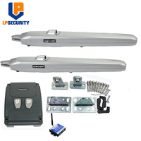 LPSECURITY 350KGS 24V DC forsee Extra Heavy Duty Low Voltage Double Swing Driveway Gates Opener with sensor,GSM, lamp option