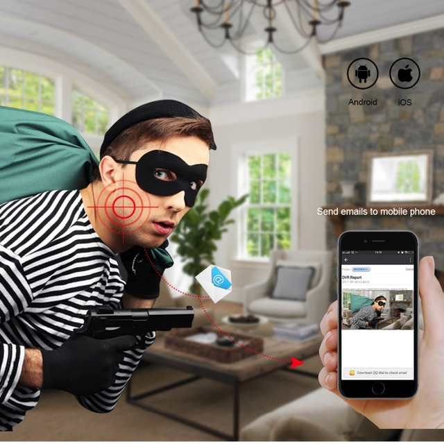 Techage HD 4CH 1080P HDMI POE NVR Kit CCTV System 2pcs 720P 1080P 2.0MP IP Camera IR Outdoor Waterproof P2P Security DIY Kit 1TB