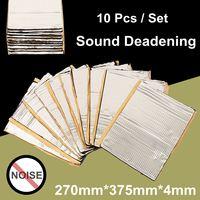10 Pcs 4mm 270x375mm Automobiles Car Sound Deadening Vibration Sound Proofing Damping Mat Heat Noise Shield Insulation Deadener