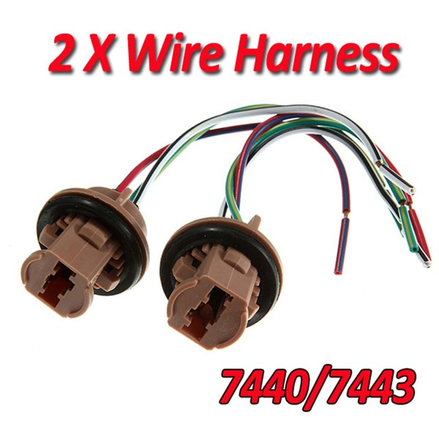 2x 7440 7443 T20 LED Lead Stereo Radio Wiring Harness Connector Socket Adaptor Brake Light Cable_640x640 led wiring to stereo wiring diagram simonand  at edmiracle.co