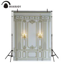 Allenjoy photography backdrop luxury marble wall European baroque decor classic background photobooth photocall photo prop