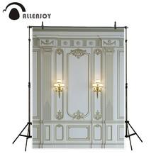 Allenjoy التصوير خلفية فاخرة الرخام جدار الأوروبي الباروك ديكور الكلاسيكية خلفية فوتوبوث فوتوكول صور الدعامة